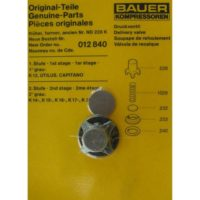 BAUER Discharge Valve Kit 012840