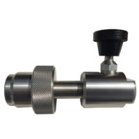 CGA-347 Stainless Hand-Tight With Push Button Bleeder