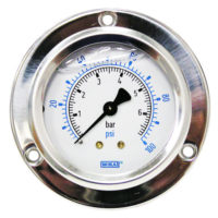 Flange Panel Gauge 100PSI/BAR