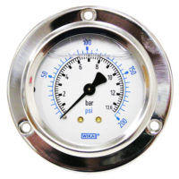 Flange Panel Gauge 200PSI/BAR
